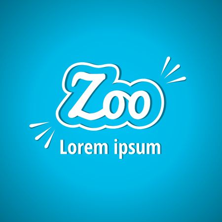 zoo: Light logo for the zoo. Zoo, font, lettering. Corporate styles vector logo design