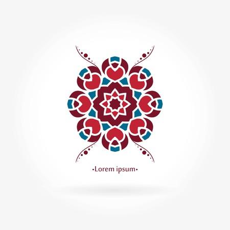 Beautiful circular. for boutique, interior. Company, mark, emblem, element. Simple geometric. Mandala. Icons, business, invitations. Vintage. Islam, Arabic, Indian, ottoman. Illustration