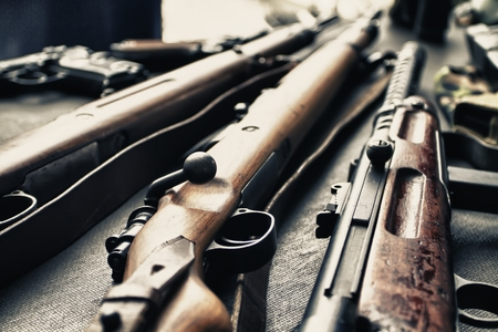 weapons: Ancient weapons of war. Stock Photo
