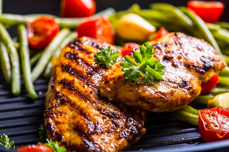 chicken breast: Grilled chicken breast in different variations