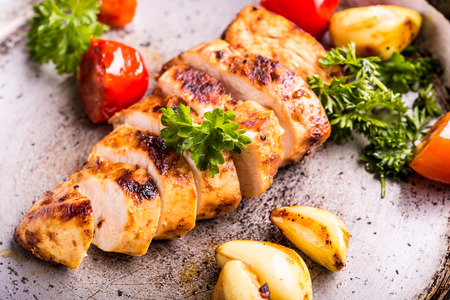 Grilled chicken breast in different variations Imagens - 46814309