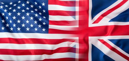 banderas america: Banderas mixtos de los EE.UU. y el Reino Unido. bandera de Union Jack.