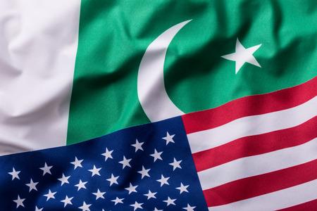 pakistan flag: Usa and Pakistan. USA flag and pakistan flag.