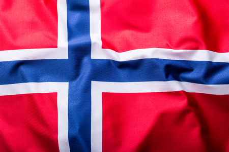 norway flag: Flags of the Norway and the European Union. Norway Flag and EU Flag. World flag money concept.