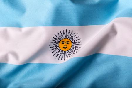 bandera argentina: Bandera de Argentina ondeando en el viento.