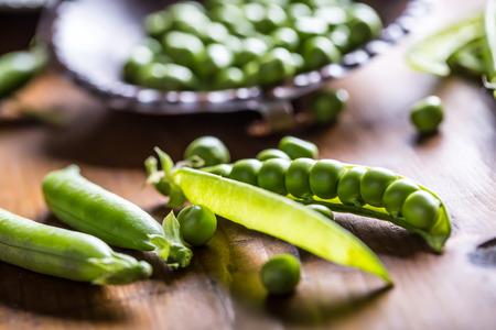 Peas. Green peas.Fresh Homemade Peas.
