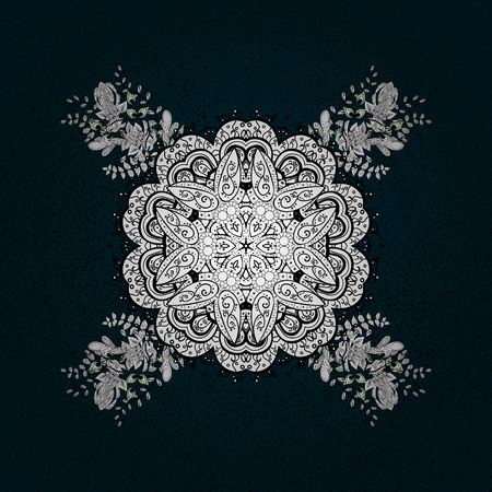 contoured: Simple illustration of nice snowflake icon for web. Isolated cute snowflakes on colorful background. Vector illustration. Nice snowflake icon.