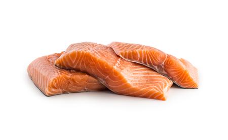 Salmon fish. Salmon fillet isolated on white.