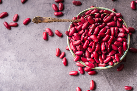 Red beans. Red beans in bowl on table.