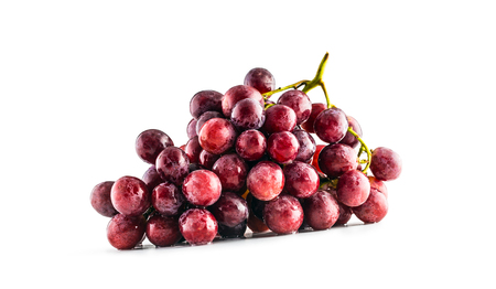 Ripe red grape on isolated white background. 版權商用圖片