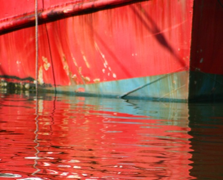 Red Boat Hull