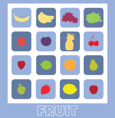 A series of flat fruit
