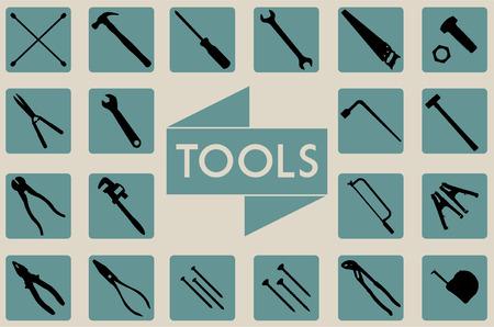 一連のツール  イラスト・ベクター素材