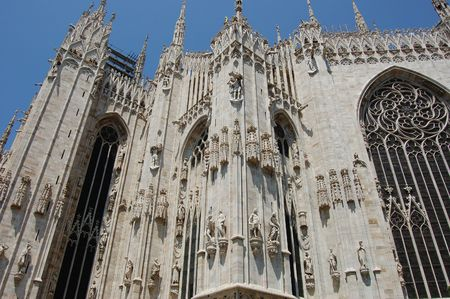 밀라노, 이탈리아 - Duomo 1 스톡 콘텐츠