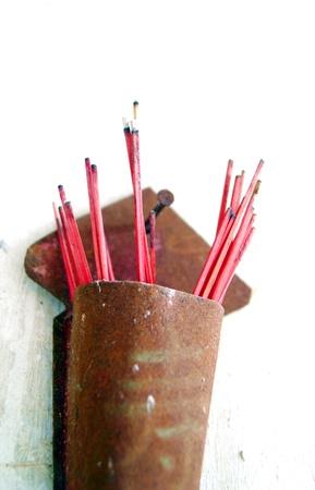 bodhisattva: Worship the bodhisattva incense  Stock Photo
