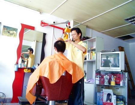 barbeiro: corte de cabelo Editorial