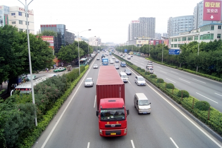 The national highway 107, China s shenzhen   Editorial