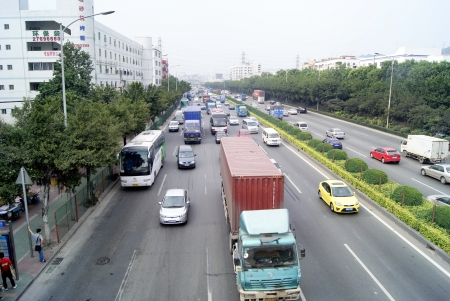 The national highway 107, China s shenzhen