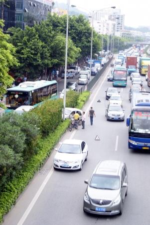 accidente transito: El accidente de tr�fico, en la carretera nacional 107, China Shenzhen s