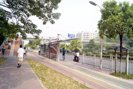 La chauss�e de la route, la Chine s Shenzhen
