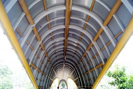 overpass: Pedestrian overpass and pedestrian overpass ceiling