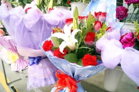 Un bouquet de belles fleurs, arrangement de fleurs d?licates de l'art Banque d'images