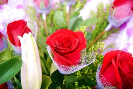 Un bouquet de belles fleurs, arrangement de fleurs d�licates de l'art