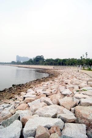 Shenzhen baie paysage en Chine Banque d'images