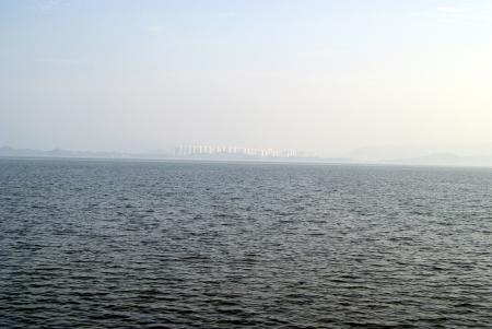 dikes: Shenzhen bay landscape, in shenzhen, China