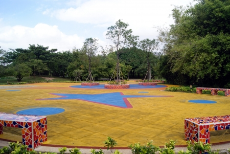 venue: Plastic laying venue, in Central Park in Shenzhen, China Stock Photo