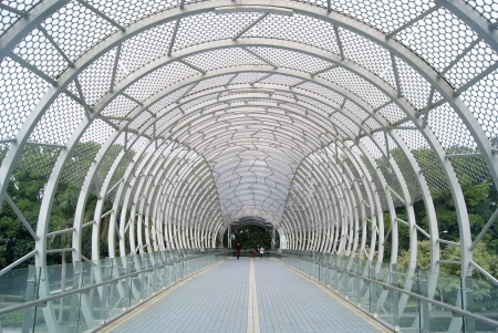 overpass: Pedestrian overpass and overpass in the shed
