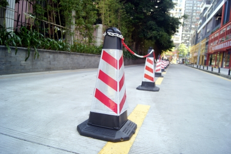traffic   cones: Clsoeup of traffic cones