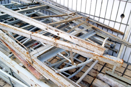 abandoned: Closeup of abandoned shelf Stock Photo