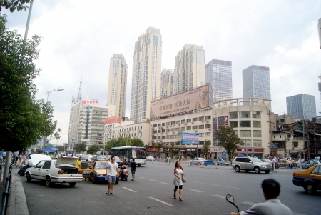 hunan: Hunan street landscape in Changsha, China