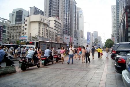 sidewalks: Hunan street landscape in Changsha, China