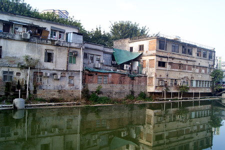 old  buildings: Xixiang river and old buildings Stock Photo