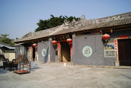 external: External of a temple Stock Photo
