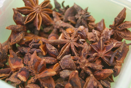 anise: Closeup of star anise Stock Photo