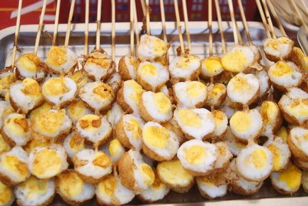 eatery: Roast quail eggs Stock Photo