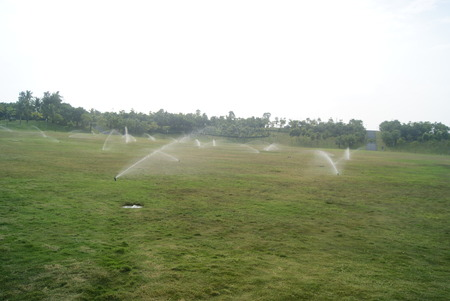Lawn and sprinkler facilities