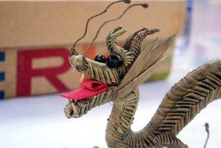 trabajo manual: Primer de un trabajo hecho a mano del dragón Foto de archivo