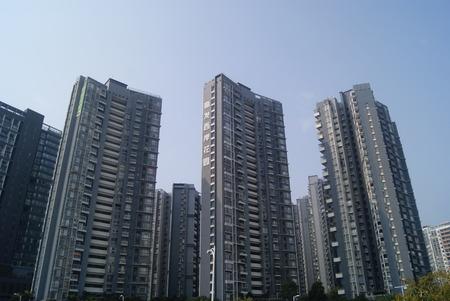 Construction de la ville, en Chine