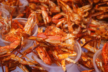 Clsoeup of fried crab
