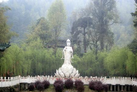 buddism: A Buddism godness Guanyin Bodhisattva statue