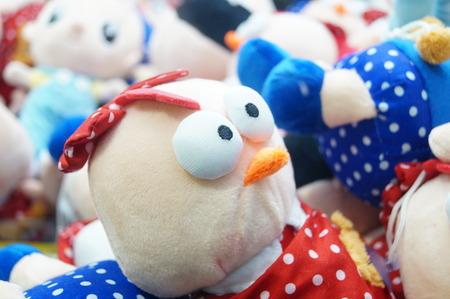stuffed toys: close up of stuffed toys Stock Photo