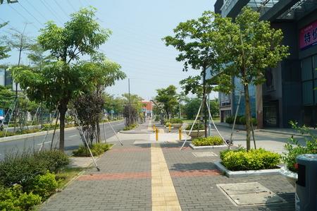 sidewalks: City sidewalks, in Shenzhen, China Editorial