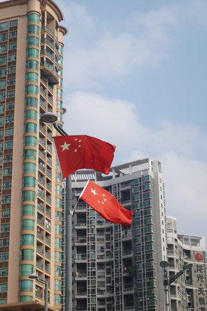 China flag on a flag pole