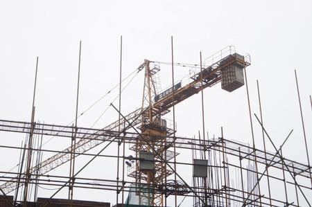site: Construction site and crane