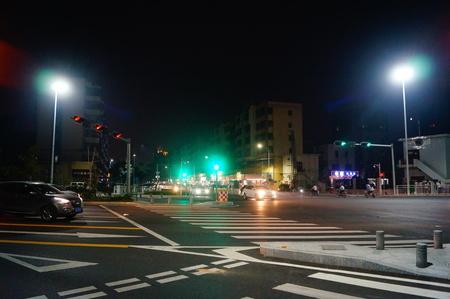 night traffic: Shenzhen night traffic landscape Editorial