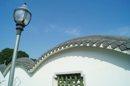 outdoor lighting: Glazed tile wall